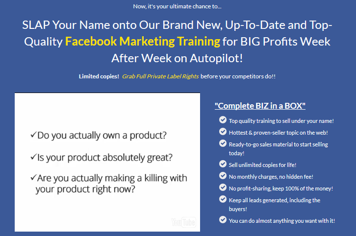 Facebook marketing 30 biz in a box monster plr by amit pareek facebook marketing 30 biz in a box monster plr by amit pareek step by step facebook marketing exclusive training to helps you to make more money with the malvernweather Image collections