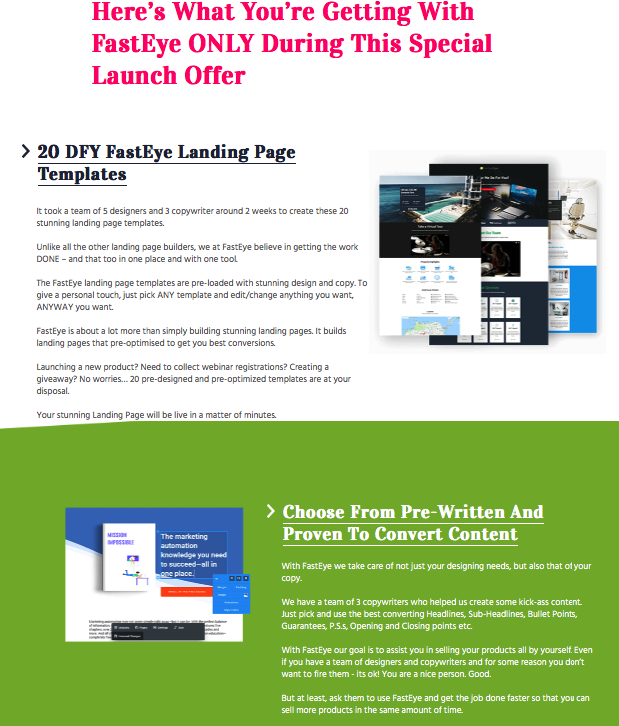 Fasteye Pages Software By Daniel Adetunji Best A Complete Landing - Personal landing page template